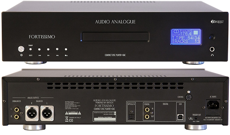 Audio Analogue Fortissimo CD Player by Airtech black, CD-плеер