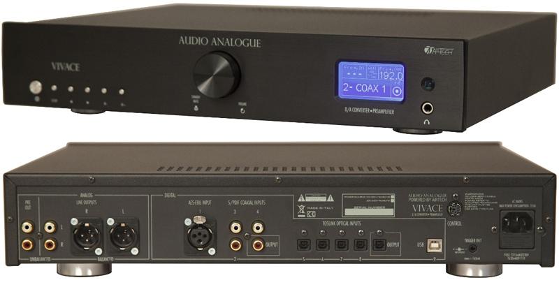 Audio Analogue Vivace black, ЦАП с предварительным усилителем