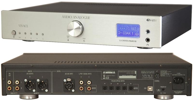 Audio Analogue Vivace silver, ЦАП с предварительным усилителем