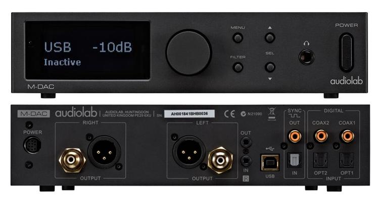 Audiolab M-DAC Black, ЦАП с предусилителем