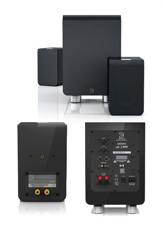 Bluesound DUO D30 Gloss black, комплект акустики 2.1