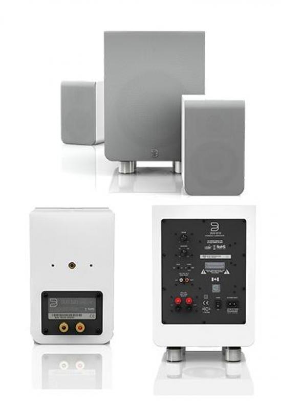 Bluesound DUO D30 Gloss white, комплект акустики 2.1
