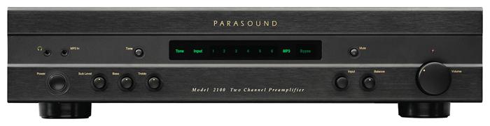 Parasound 2100 Black, предварительный усилитель стерео серии Classic